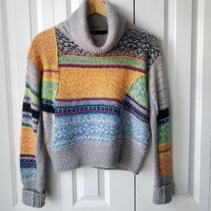 FREE PEOPLE multi color/pattern wool blend sweater